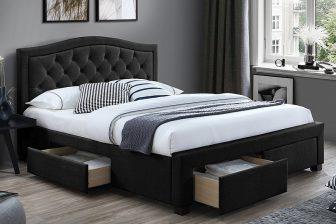 ELECTRA 160 - łóżko tapicerowane z szufladami KILKA KOLORÓW 39