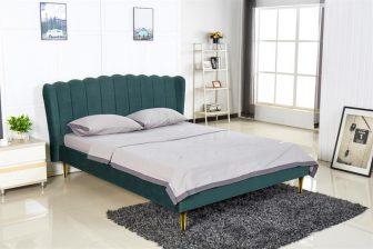 VALVERDE 160 - łóżko tapicerowane z zagłówkiem zielone 54