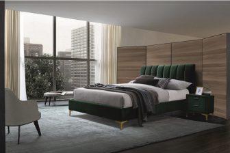 MIRAGE 160 - łóżko tapicerowane z zagłówkiem zielone 43