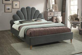 SANTANA 160 - łóżko tapicerowane z zagłówkiem szare 52