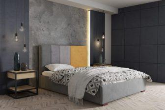 AREZZO 160 - łóżko tapicerowane otwierane 4
