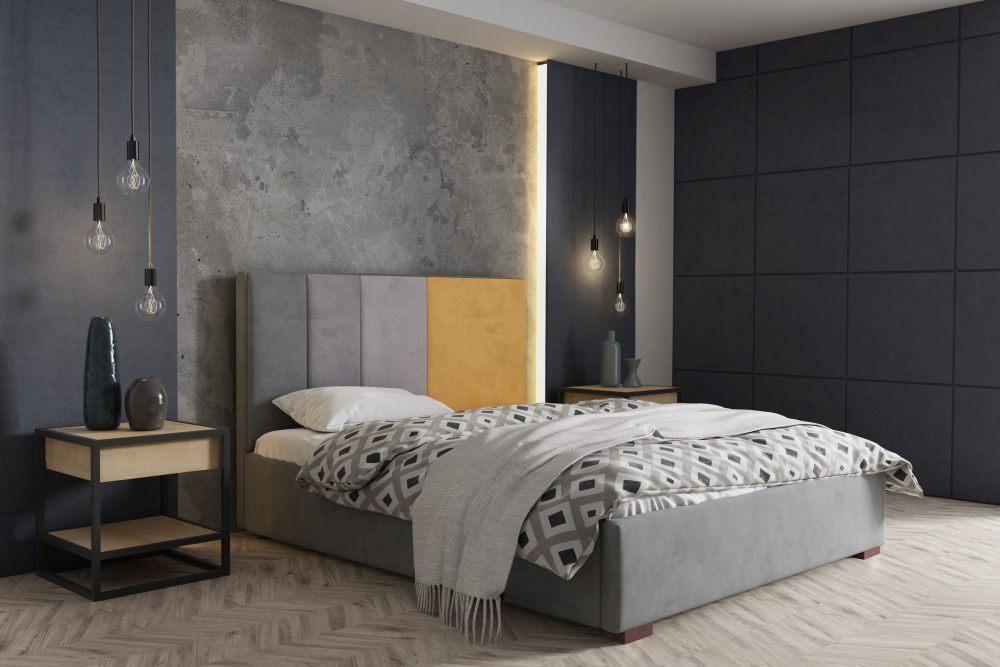 AREZO 160 - łóżko tapicerowane z pojemnikiem 2