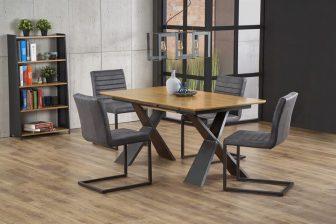 CHANDLER- duży stół industrialny rozkładany 160/220 kolor dąb naturalny 5
