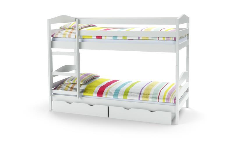 SAM łóżko drewniane piętrowe z materacami kolor biały 2