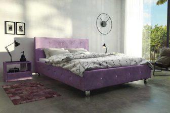 AREZZO 180 - łóżko tapicerowane z zagłówkiem i kryształkami swarovskiego 9
