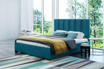 HOLTEN 160 - łóżko tapicerowane z zagłówkiem różne kolory 1