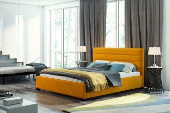 VESTA 140 - łóżko tapicerowane z zagłówkiem różne kolory 7