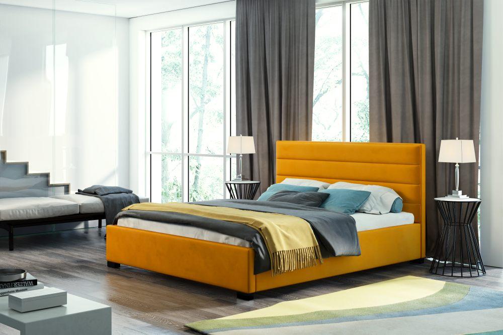 VESTA 140 - łóżko tapicerowane z zagłówkiem różne kolory 2