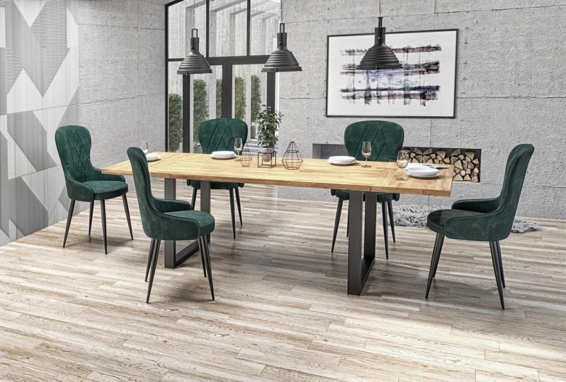 RDS- stół industrialny rozkładany 160 lite drewno 1