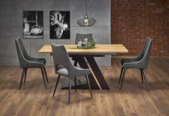 FERGUSON - duży stół industrialny rozkładany 160/220 kolor dąb naturalny 2