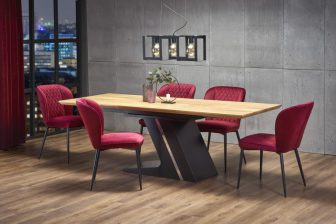 FERGUSON - duży stół industrialny rozkładany 160/220 kolor dąb naturalny 6