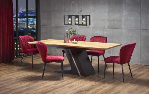 FERGUSON - duży stół industrialny rozkładany 160/220 kolor dąb naturalny 1