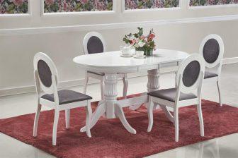 JOSEPH- stół klasyczny rzeźbiony rozkładany 150-190 kolor biały 11