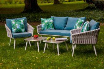 COBO- kanapa ogrodowa z fotelami pleciona sznurem - nowość 5