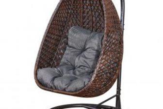 MAROW - fotel wiszący ogrodowy kokon technorattan 6