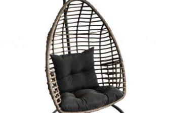 PATTO - fotel wiszący ogrodowy kokon technorattan 7