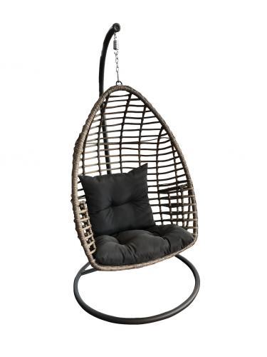 PATTO - fotel wiszący ogrodowy kokon technorattan 1