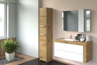PROVENCE 43S - słupek łazienkowy dąb artisan 9