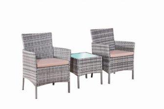 SOLO - komplet krzeseł ogrodowych ze stolikiem z technorattanu 12