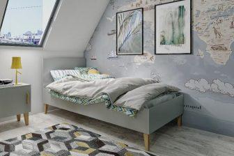 KUBUŚ - łóżko łózeczko 90x200 dla dzieci szare 15
