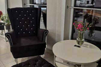 GLAMOUR 2 - fotel uszak kryształki 3