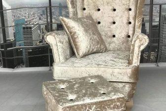 GLAMOUR 3 - fotel uszak z podnóżkiem i z poduszką 4
