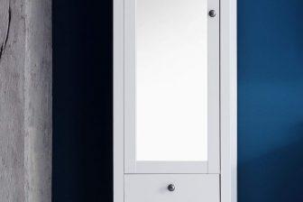 OTTON - słupek łazienkowy biały 5