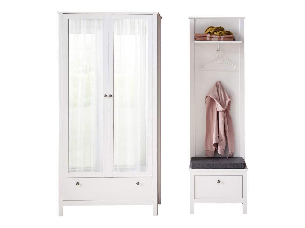 OTTON - szafa z lustrem drzwi podwójne 2