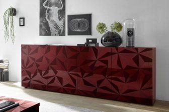 PRIMO 3 - komoda w stylu glamour różne kolory połysk 5