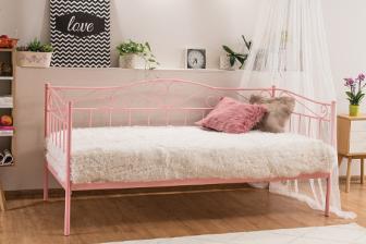 BIRMA 90 - łóżko różowe metalowe 21