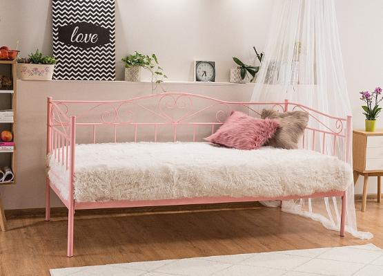 BIRMA 90 - łóżko różowe metalowe 1
