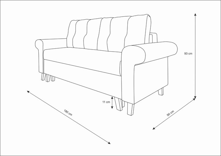 GLAMOUR 5 - sofa rozkładana dwuosobowa - szybka realizacja 10