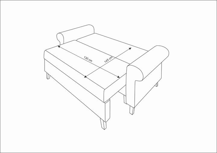 GLAMOUR 5 - sofa rozkładana dwuosobowa - szybka realizacja 11