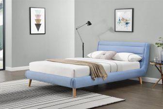 ELANDA 160 - łóżko tapicerowane z zagłówkiem KOLORY 27