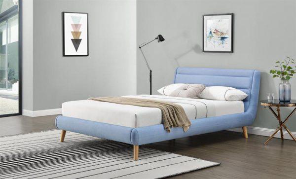 ELANDA 160 - łóżko tapicerowane z zagłówkiem KOLORY 1
