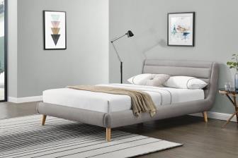 ELANDA 140- łóżko tapicerowane z zagłówkiem szare 4