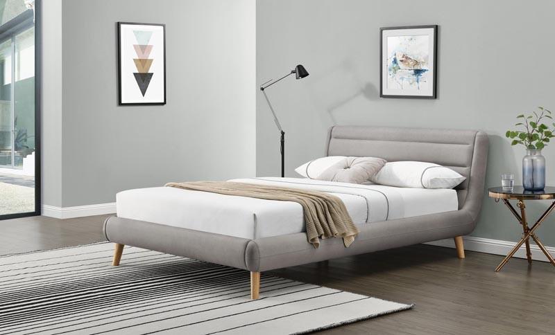 ELANDA 160 - łóżko tapicerowane z zagłówkiem KOLORY 2