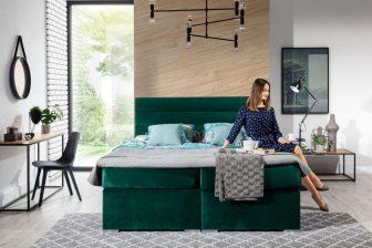 FENDI 180 - łóżko kontynentalne z opcją wyboru koloru 2