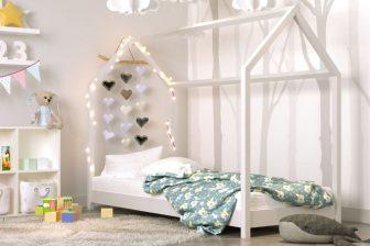 Łóżko łóżeczko dziecięce DOMEK 160x80 - 3 KOLORY 26