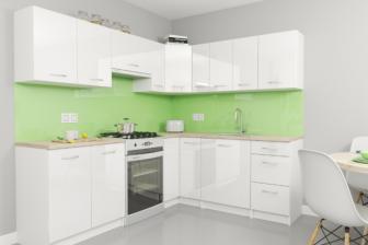 KOLENDRA - meble kuchenne narożne białe połysk 2,3m x 1,9m 14