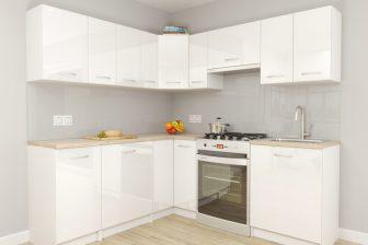 PAGIANI - meble kuchenne narożne białe połysk 2,1m x 1,5m 18