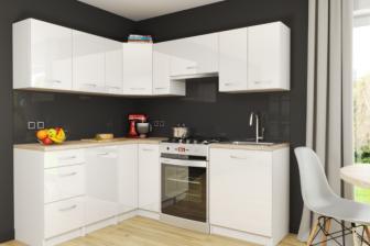 MONICA - meble kuchenne narożne białe połysk 2,1m x 1,7m 17