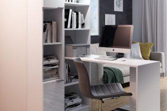 BOLDEN 2 - biurko z regałem i słupkiem 3 kolory 31