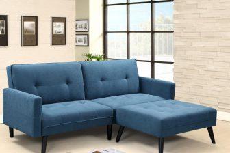 CORNER - kanapa z funkcją spania + podnóżek 110