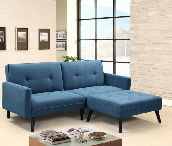 CORNER - kanapa z funkcją spania + podnóżek 1