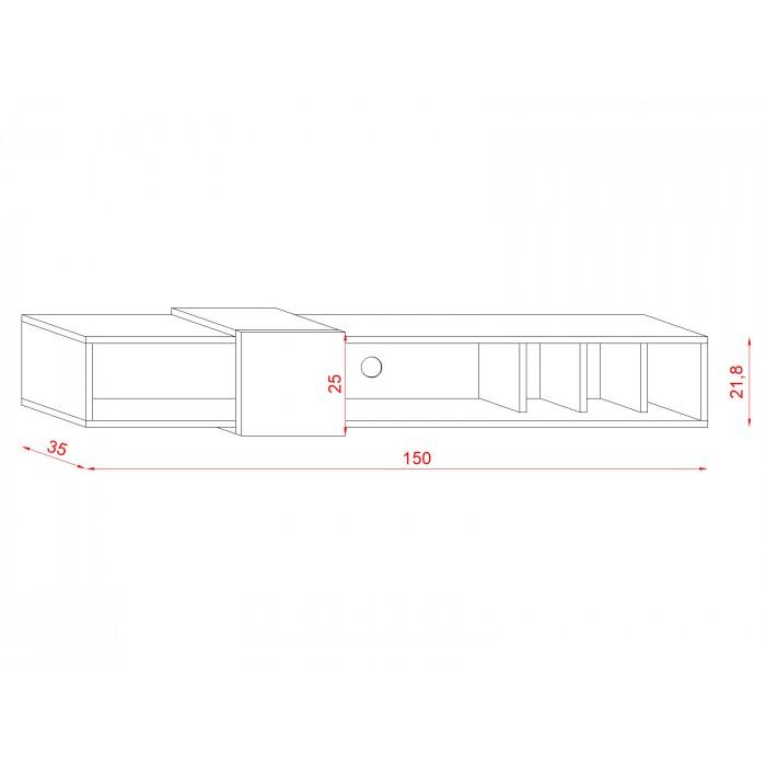 SET 150 - szafka RTV wisząca stolik RTV - 2 kolory 4