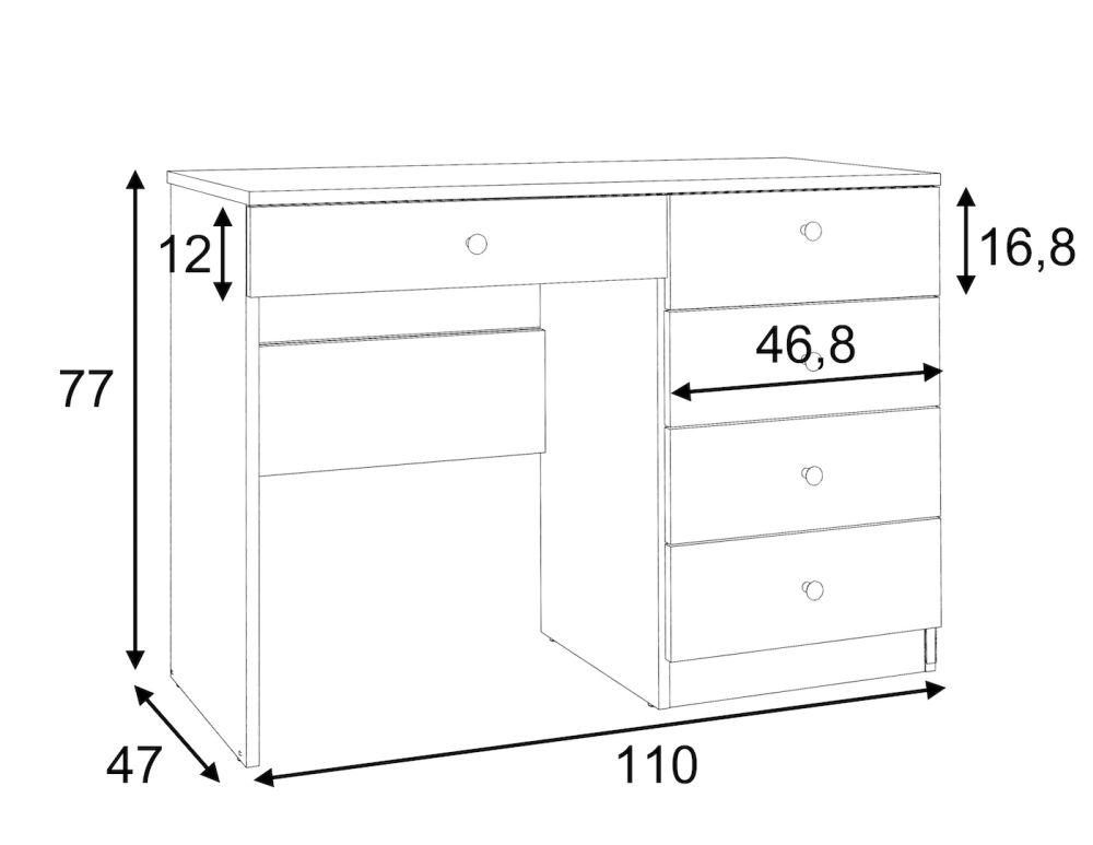 OMEGA- biurko toaletka konsolka 7