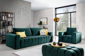 LORETTA - zestaw wypoczynkowy - kanapa+fotel+puf 10
