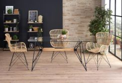 Krzesła rattanowe rattan naturalny 2szt. - od ręki 2