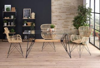 Krzesła rattanowe rattan naturalny 2szt. - od ręki 44